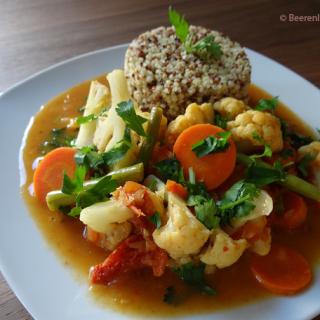 Veganes Indisches Gemüse Curry