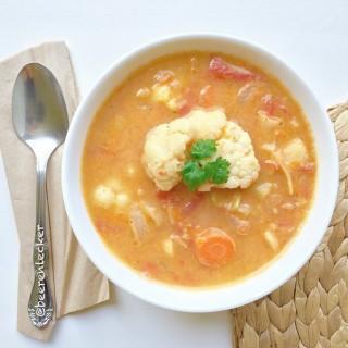 Mandel Blumenkohl Suppe (Vegan)