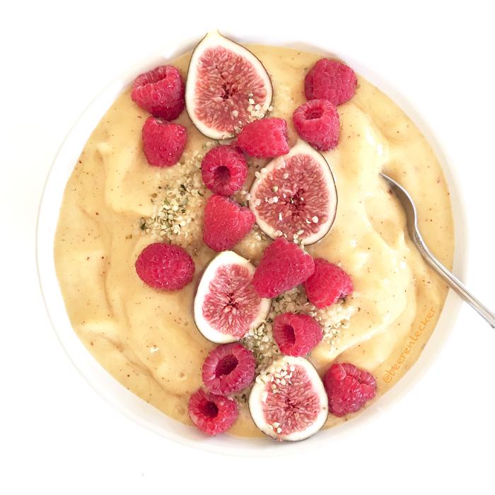 Veganes Pfirsich Bananen Eis