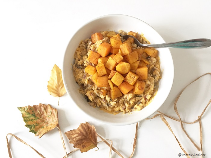 6 Gesunde Winterrezepte - veganes Kürbisrisotto