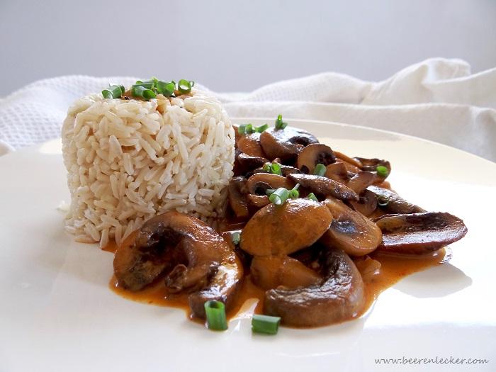 Pilze in Kokos-Sahne-Soβe