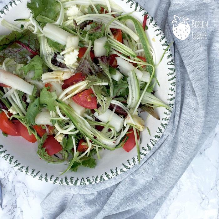 Spargel Zucchini Salat von Beerenlecker