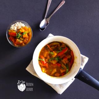 Kürbis Gemüse Curry (Vegan & Glutenfrei)
