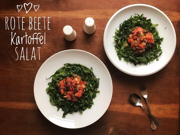 veganer rote Beete Kartoffelsalat